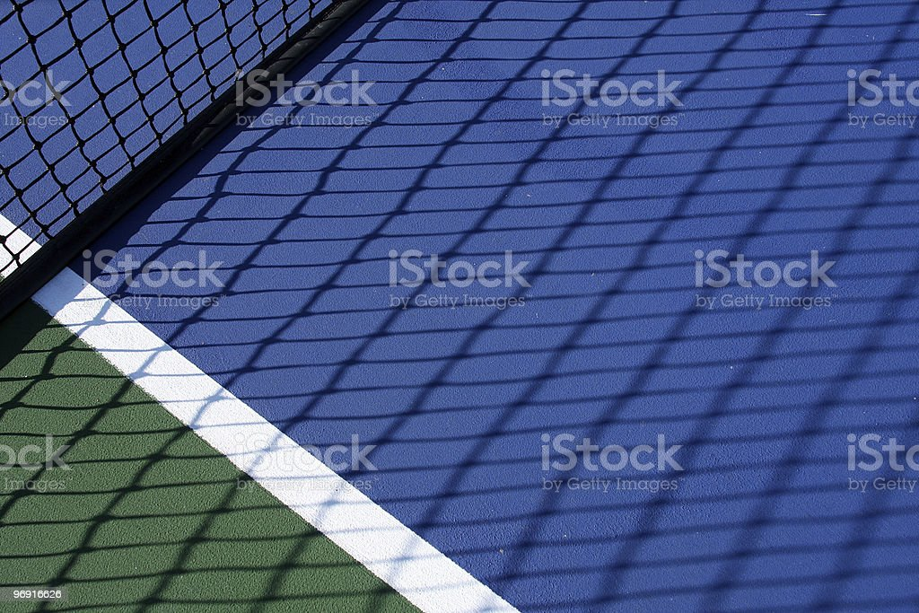 Tennis Court Net Shadow royalty-free stock photo
