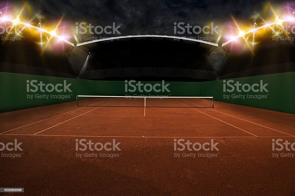Tennis Court. stock photo