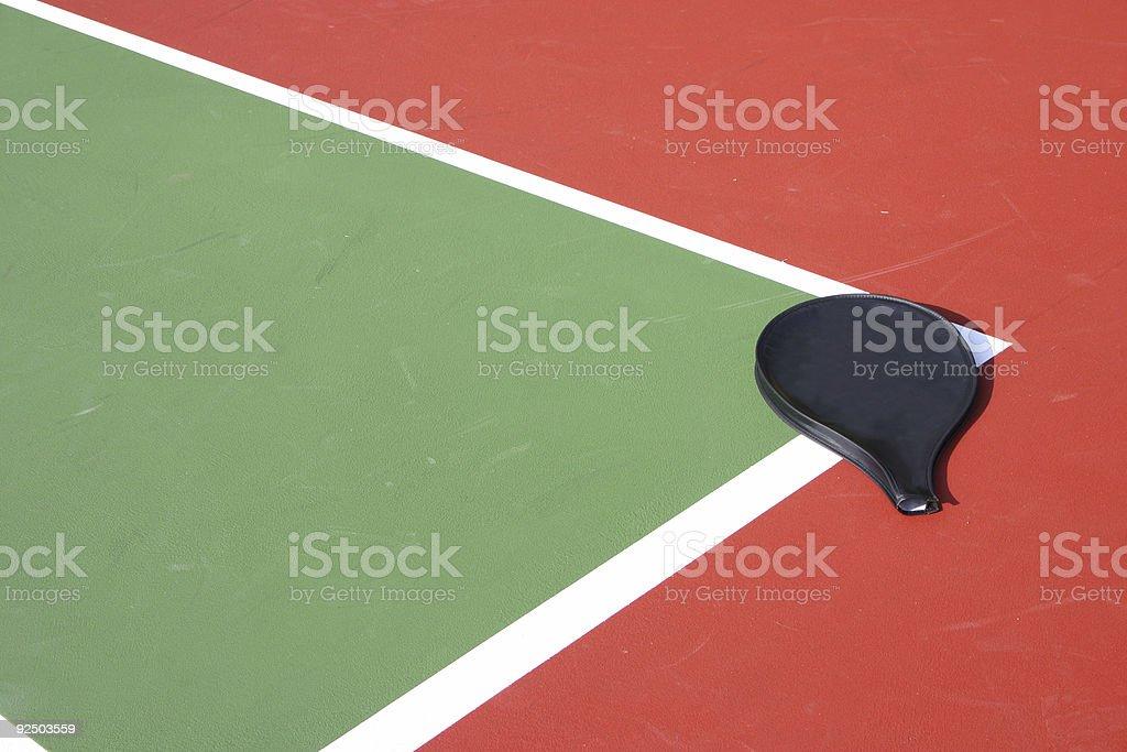 Tennis Court & Racket Jacket royalty-free stock photo