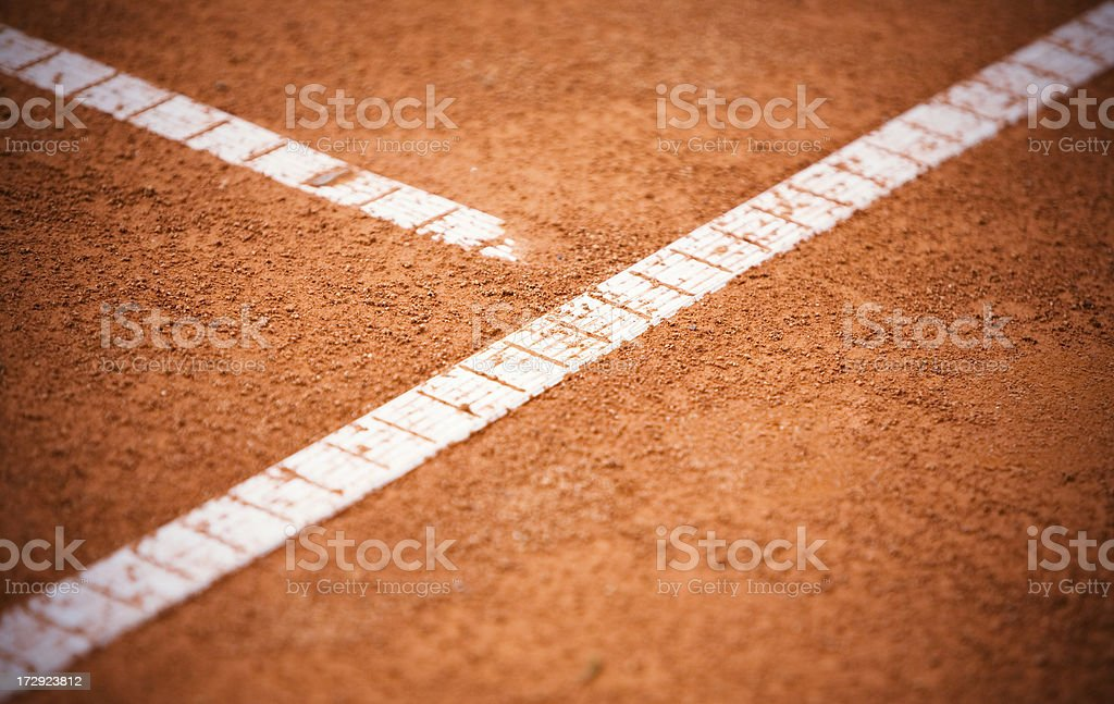 Tennis court with baselines royalty-free stock photo