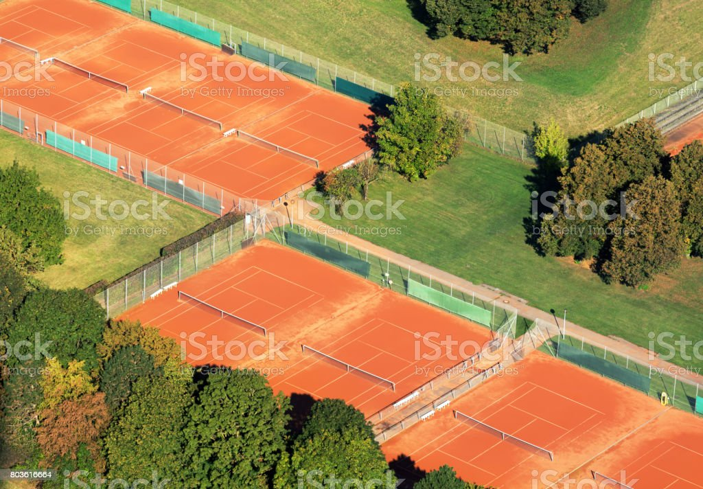 Tennis courts in Munich stock photo