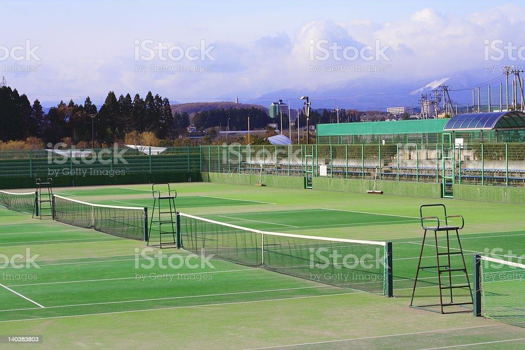 Tennis courts stock photo