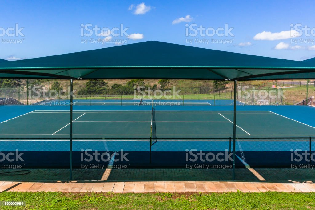 Tennis Courts Shade Awnings Stock Photo More Pictures Of Abstract