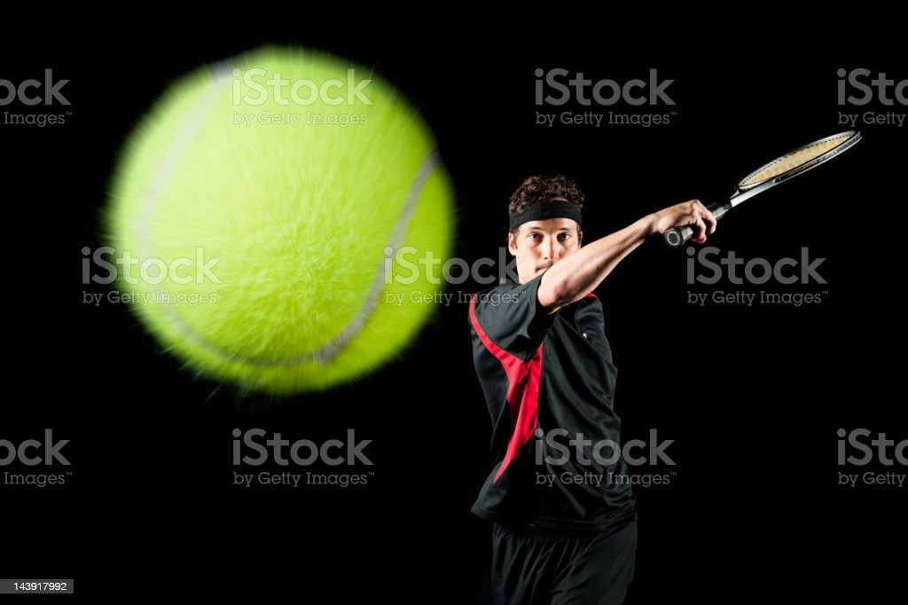 Tennis Forehand royalty-free stock photo