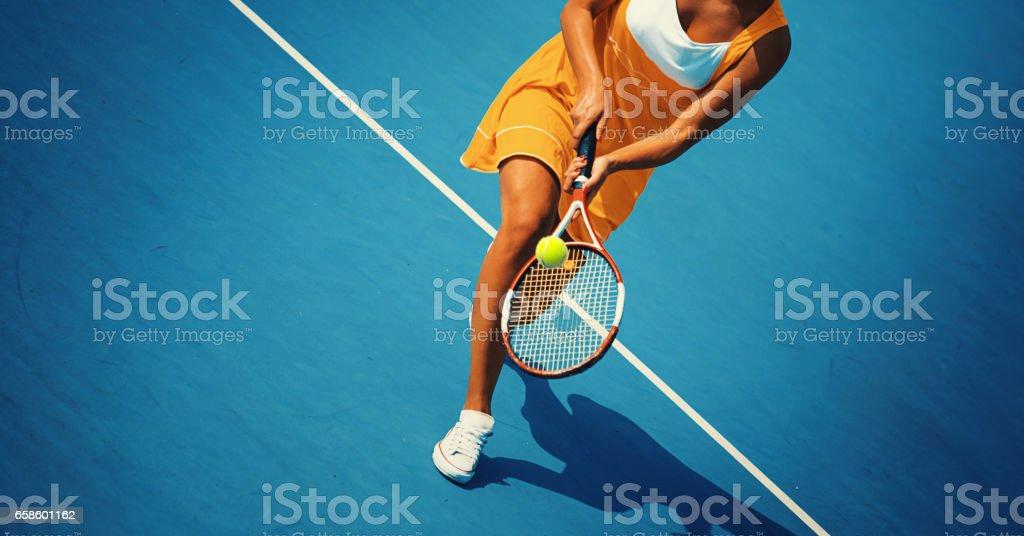 Juego de tenis. - foto de stock