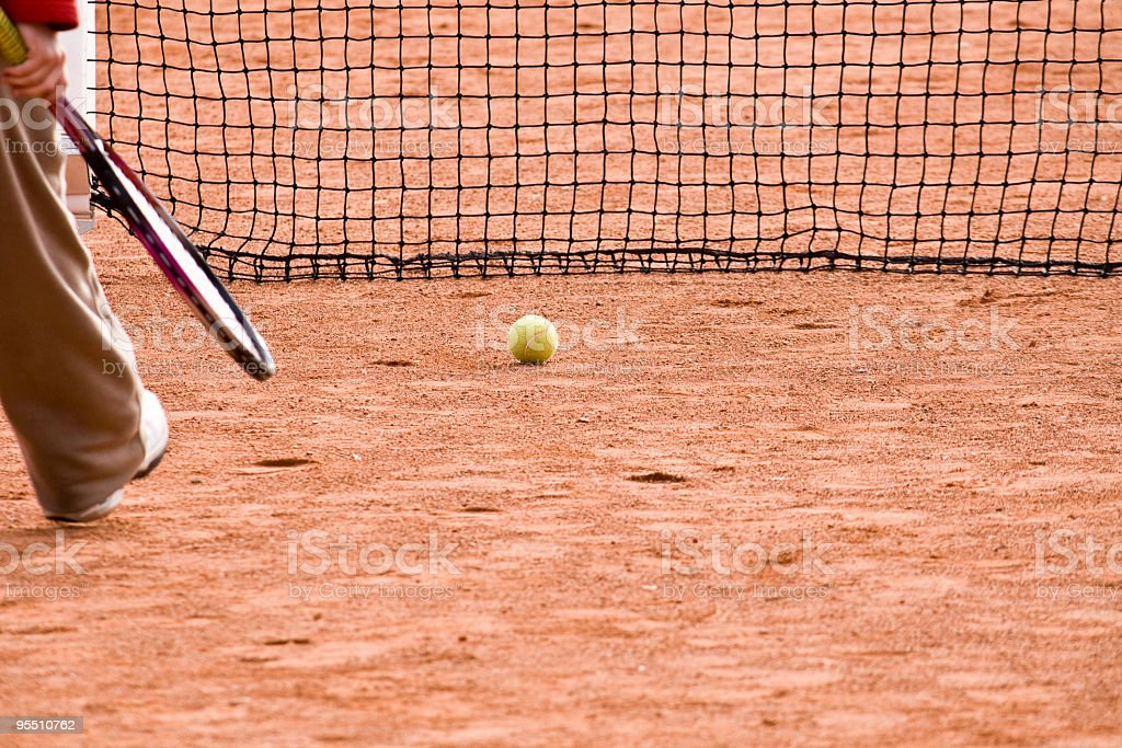 Tennis game royalty-free stock photo