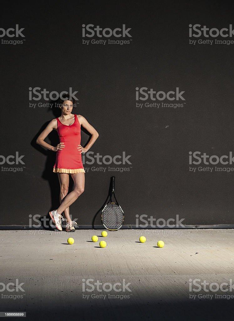 Tennis girl royalty-free stock photo