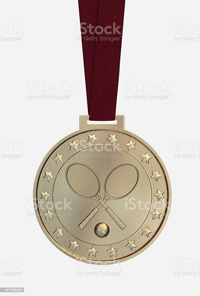 Tennis gold medal royalty-free stock photo