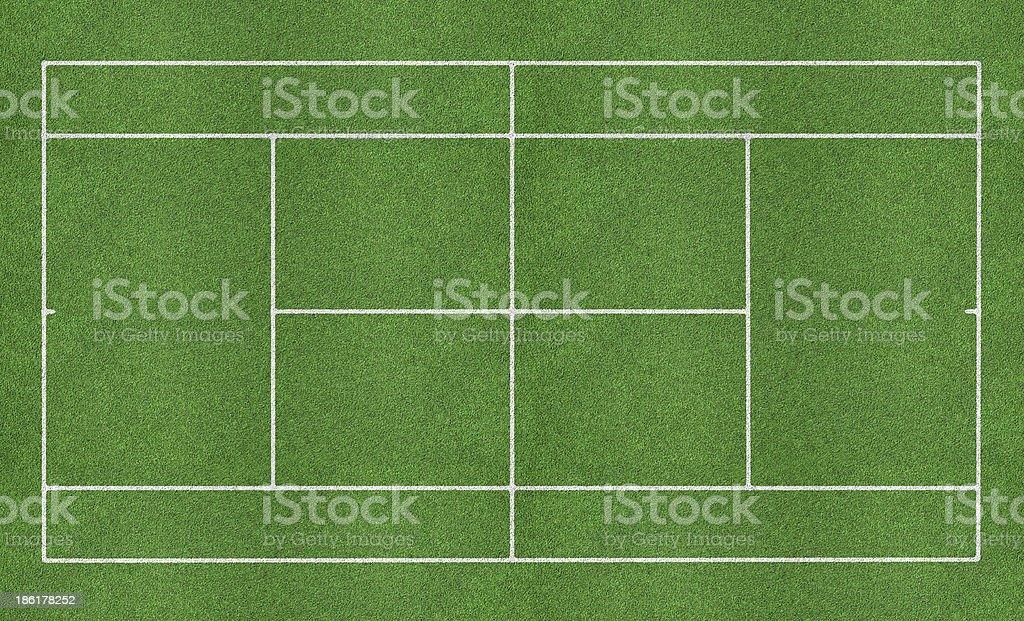 Tennis grass court stock photo