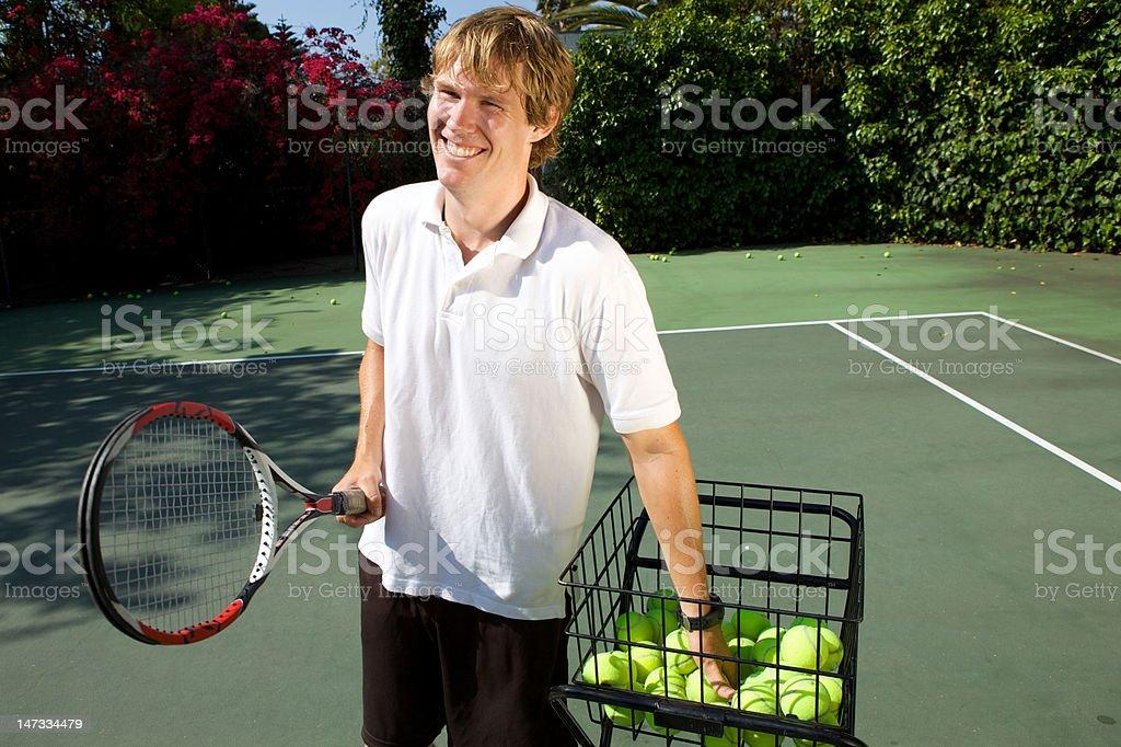 Tennis Instructor stock photo