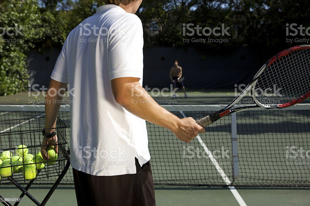 Tennis Instructor royalty-free stock photo