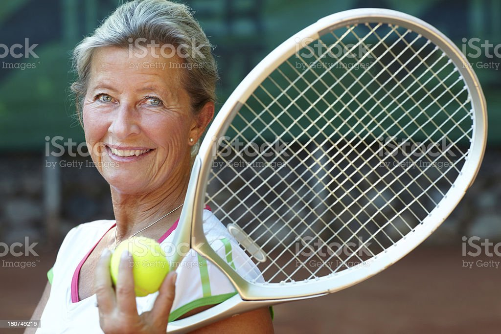 Tennis is her game stock photo