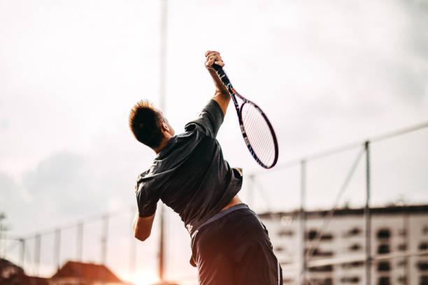 tennis is mijn favoriete sport - tennis stockfoto's en -beelden