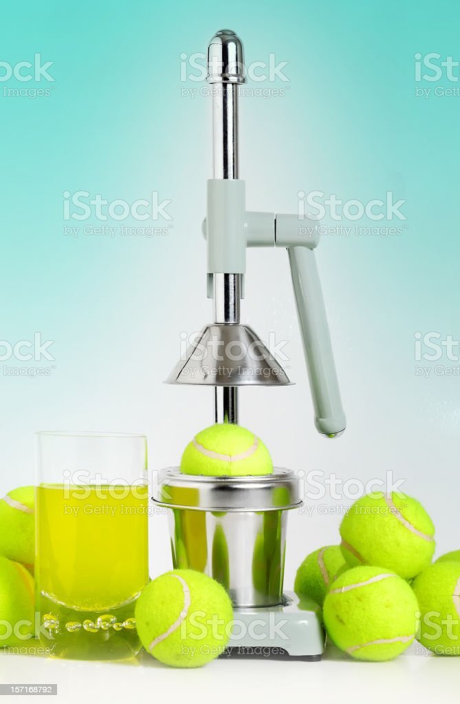 tennis juice royalty-free stock photo