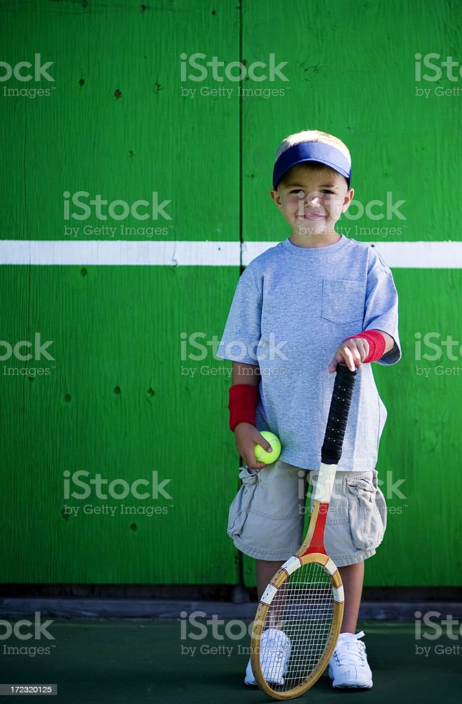 Tennis Kid royalty-free stock photo