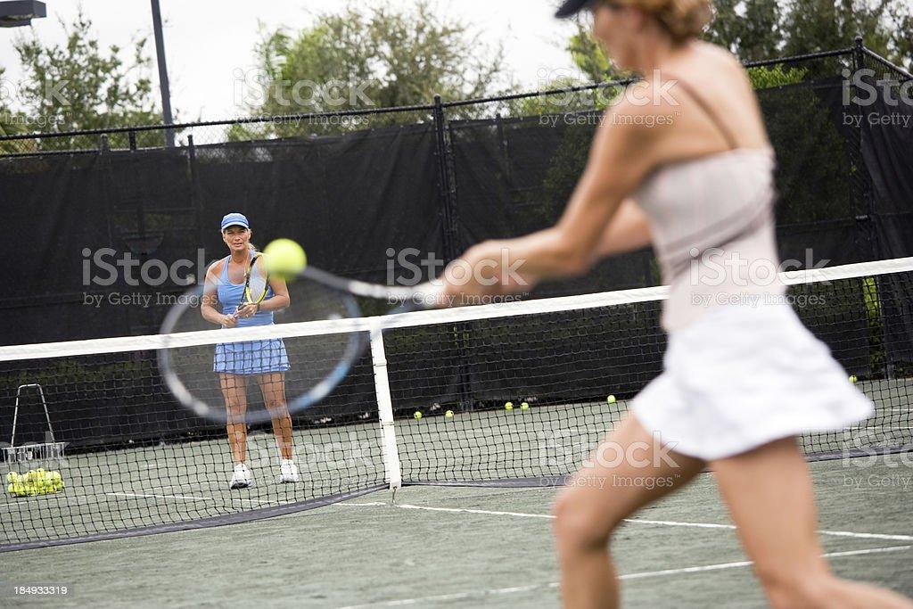 Tennis lesson stock photo