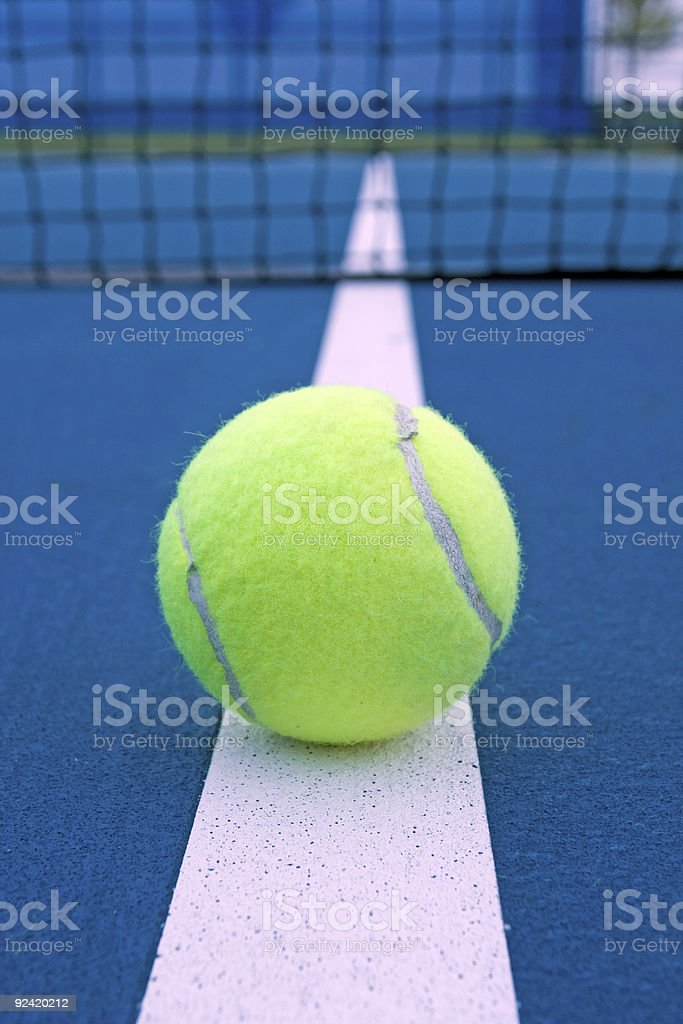 Tennis line stock photo
