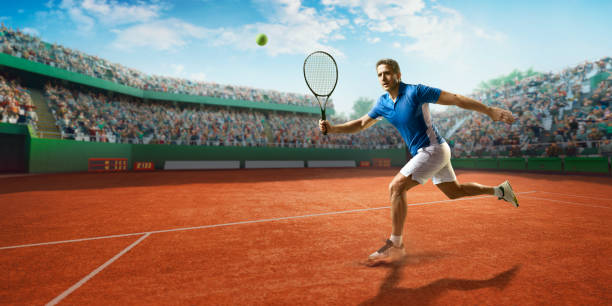tennis: male sportsman in action - target australia stock pictures, royalty-free photos & images