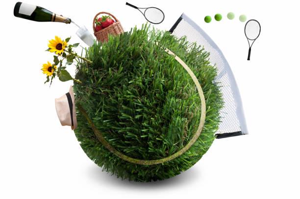Tennis match concept stock photo