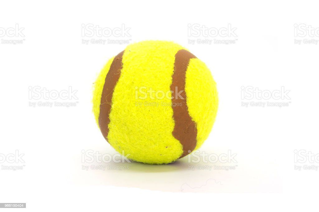 Tennis op witte achtergrond - Royalty-free Apparatuur Stockfoto