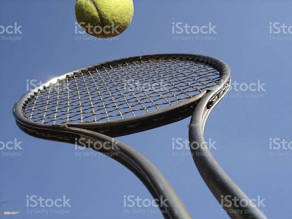 Tennis Overhead Return royalty-free stock photo