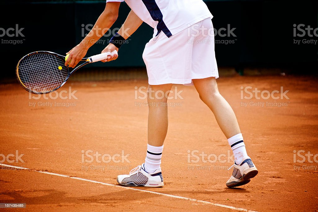 Tennis pitch royalty-free stock photo