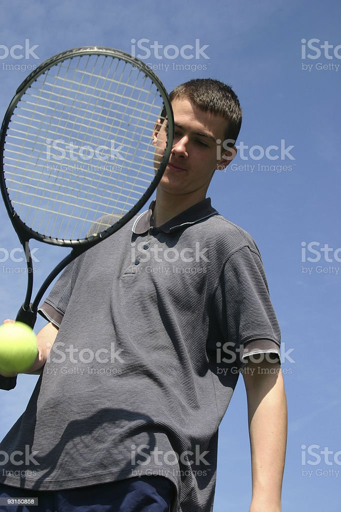 Tennis Player 4 royalty-free stock photo