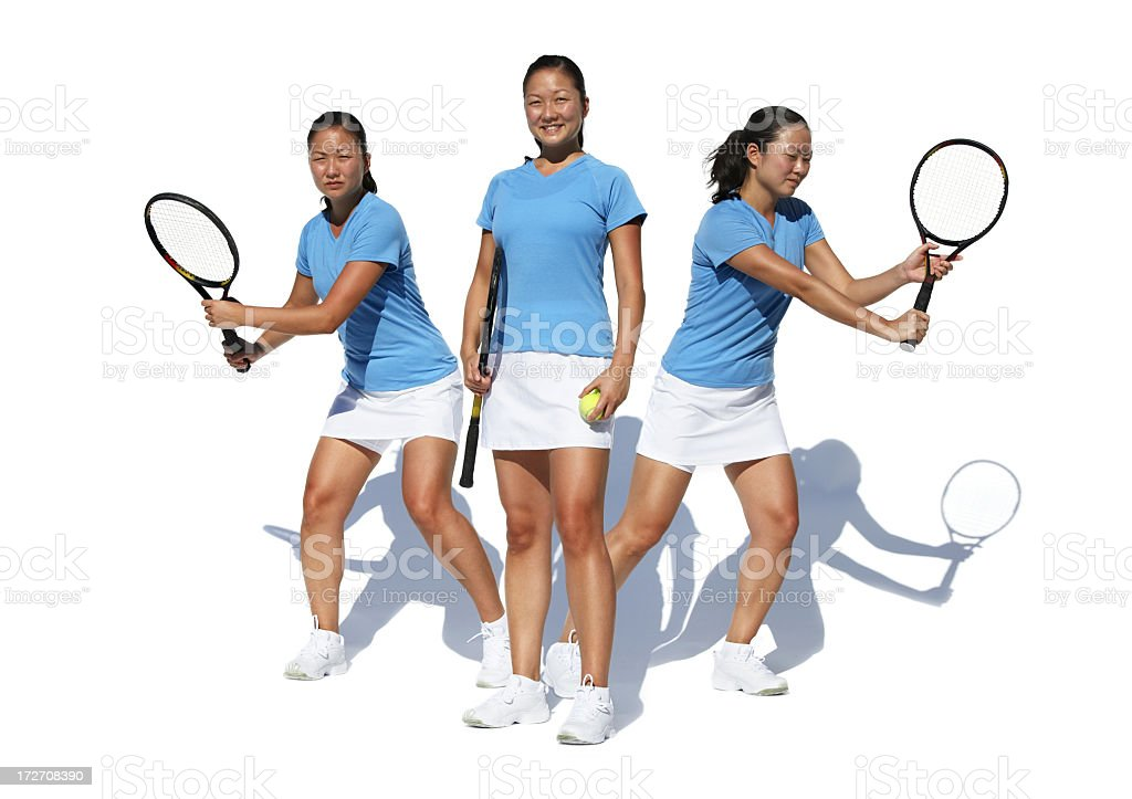 Tennis player action portrait royalty-free stock photo