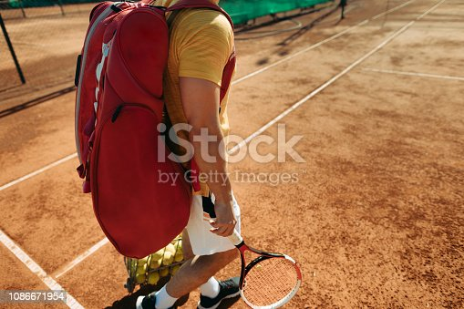 istock Tennis player after the match 1086671954