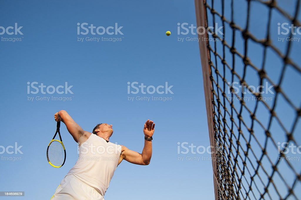 Tennis player at smach royalty-free stock photo