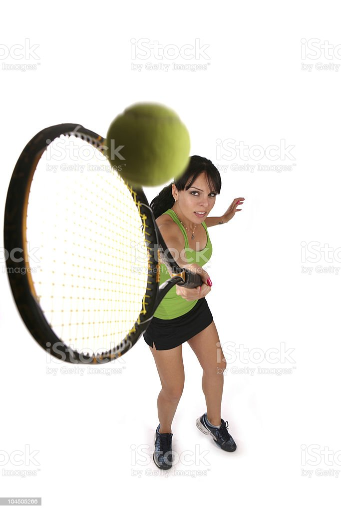Tennis player girl royalty-free stock photo