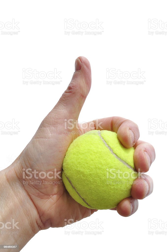 Tennis Player Giving Thumbs Up Sign royalty-free stock photo