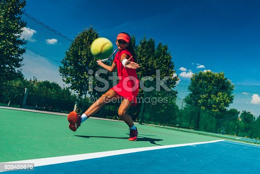 1153628111istockphoto Tennis player in action 639455676