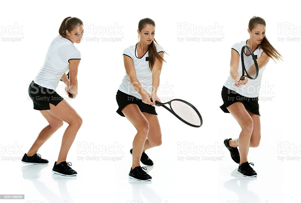 Tennis player is action stock photo