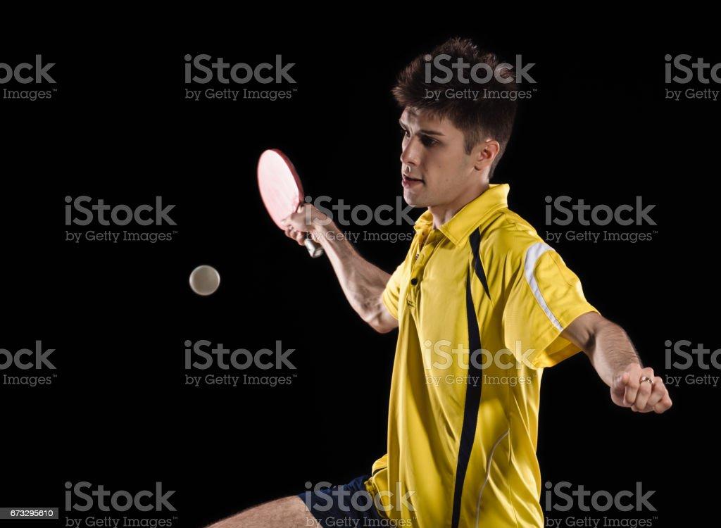 tennis player man. ping pong royalty-free stock photo