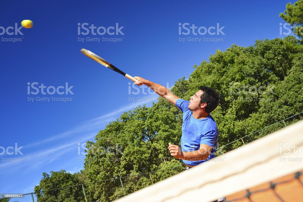 Tennis Player on Net royalty-free stock photo