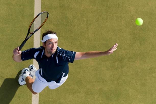 tennis player - human limb stock photos and pictures
