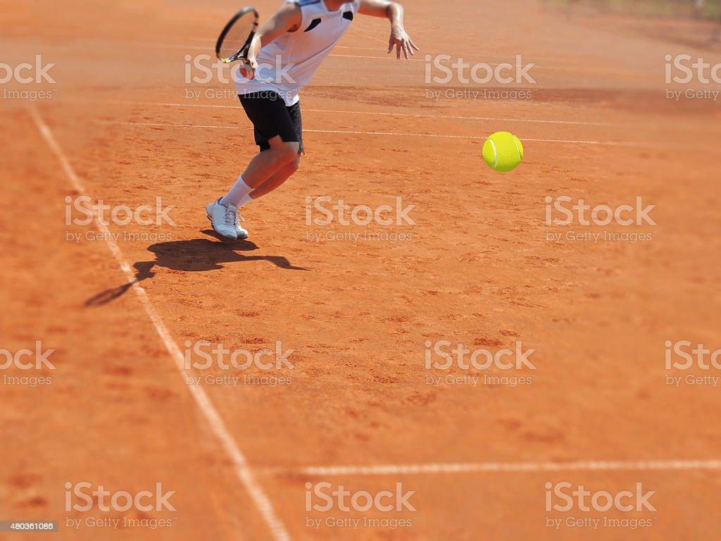 Tennis player stock photo