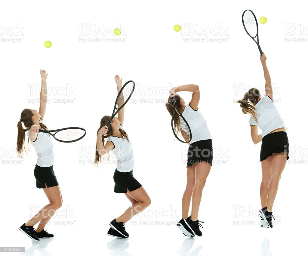 Tennis player playing stock photo