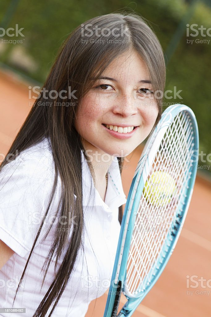 Tennis player portrait royalty-free stock photo
