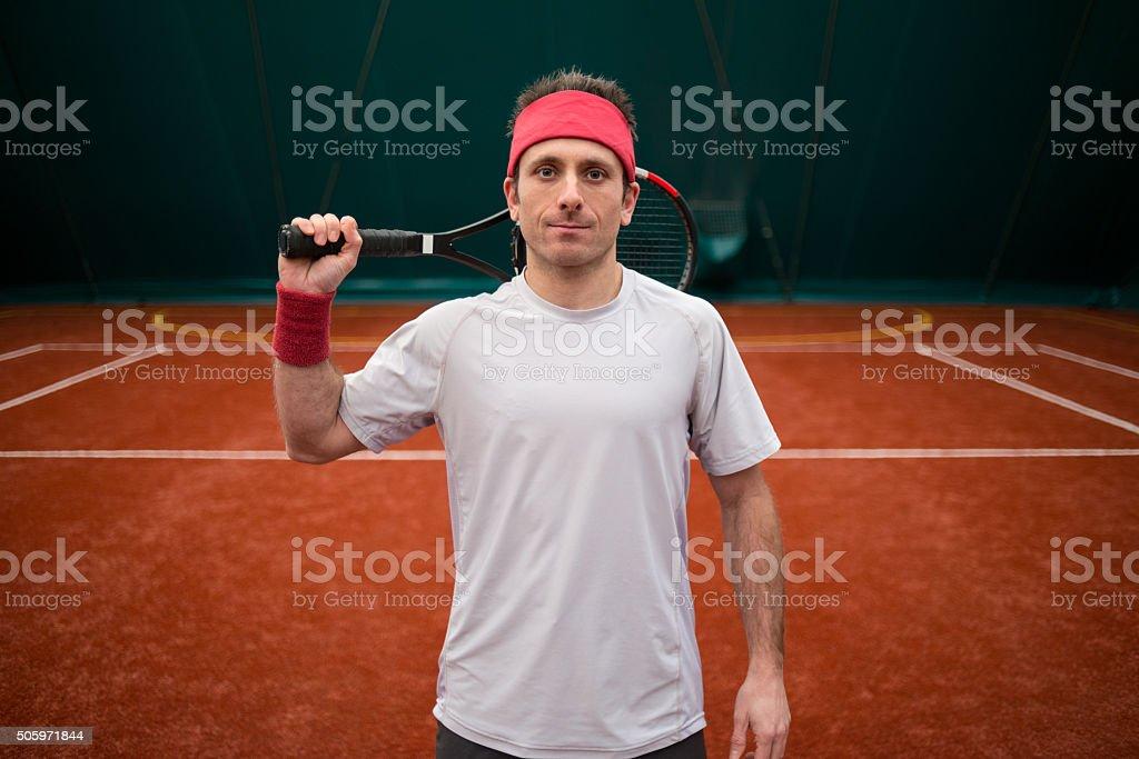 Tennis player portrait stock photo