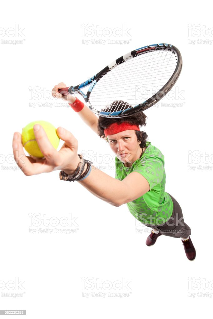 Tennis player portrait stock photo