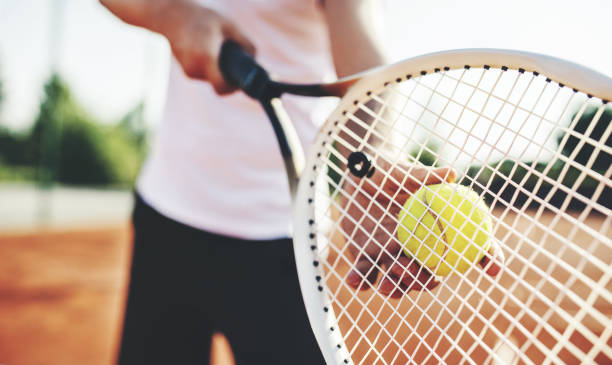 tennis player. sport, recreation concept - racket sport stock pictures, royalty-free photos & images