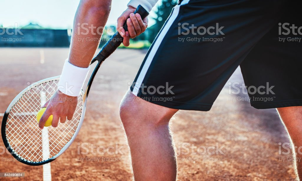 Tennis player. Sport, recreation concept stock photo