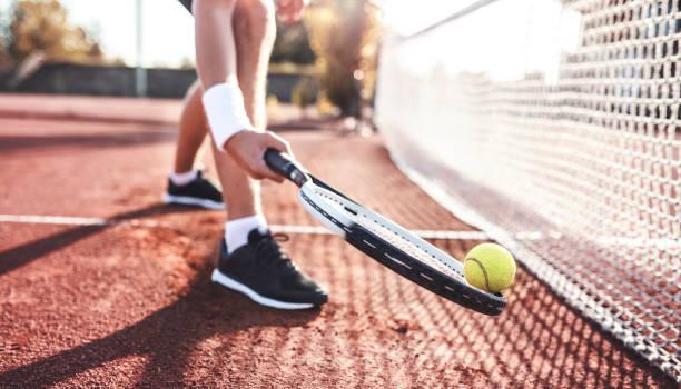 jugador de tenis. deporte, concepto de recreación - tenis fotografías e imágenes de stock