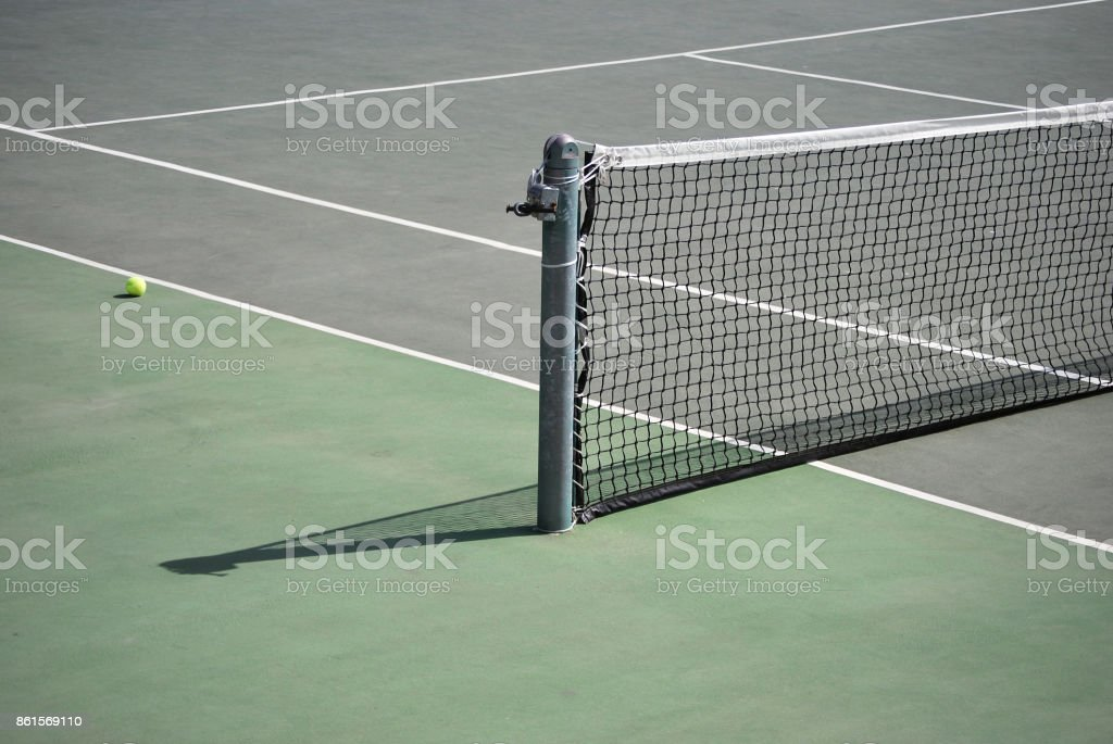 Tennis playground stock photo