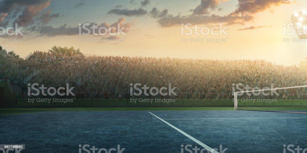Tennis: Playing court stock photo