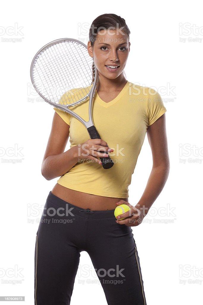 Tennis portrait royalty-free stock photo