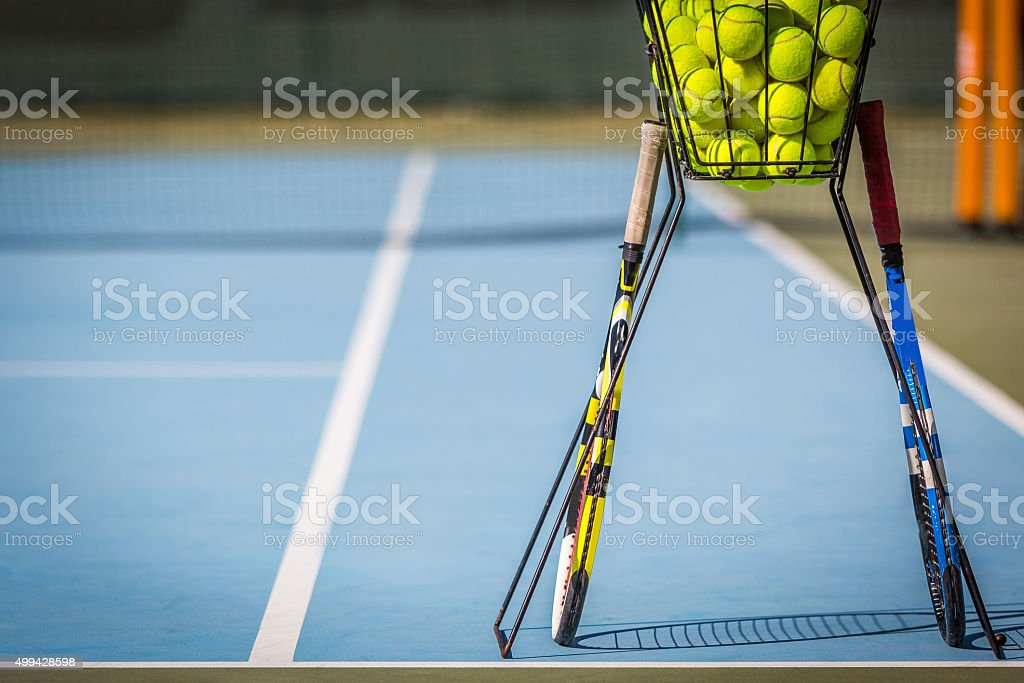 Tennis Practice stock photo