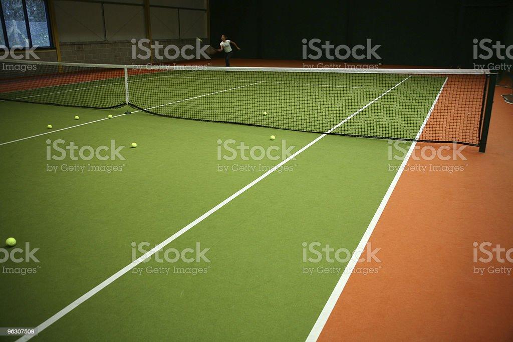 Tennis Practice royalty-free stock photo